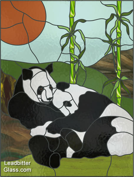 stained glass pandas