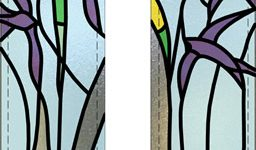 stained glass swallows