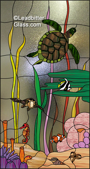 stained_glass_tropical_fish_turtles