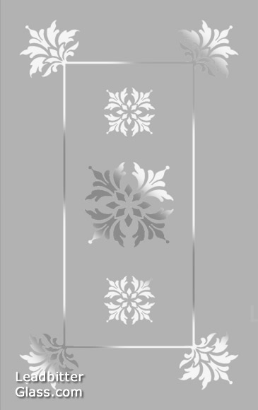 Traditional Floral Etched Glass Design Suffolk