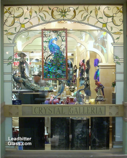 leaded glass shop front window