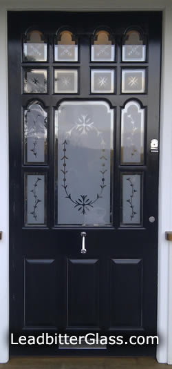 Victorian London style Sandblasted Glass door