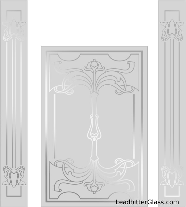 Catherine Victorian Etched Glass Door