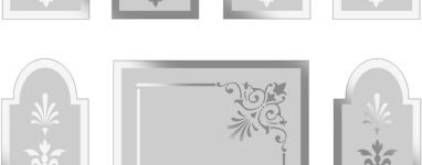 Victorian Etched Glass Design