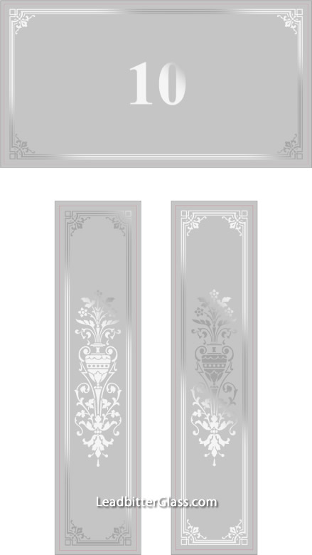 Sandblasted Glass Victorian Doors Merseyside