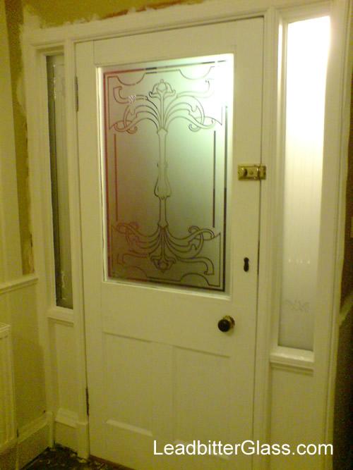 victorian etched glass door