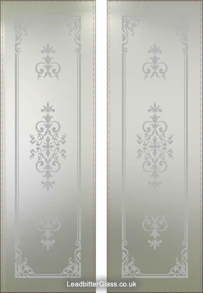 Victorian Etched Satin Door Oxford