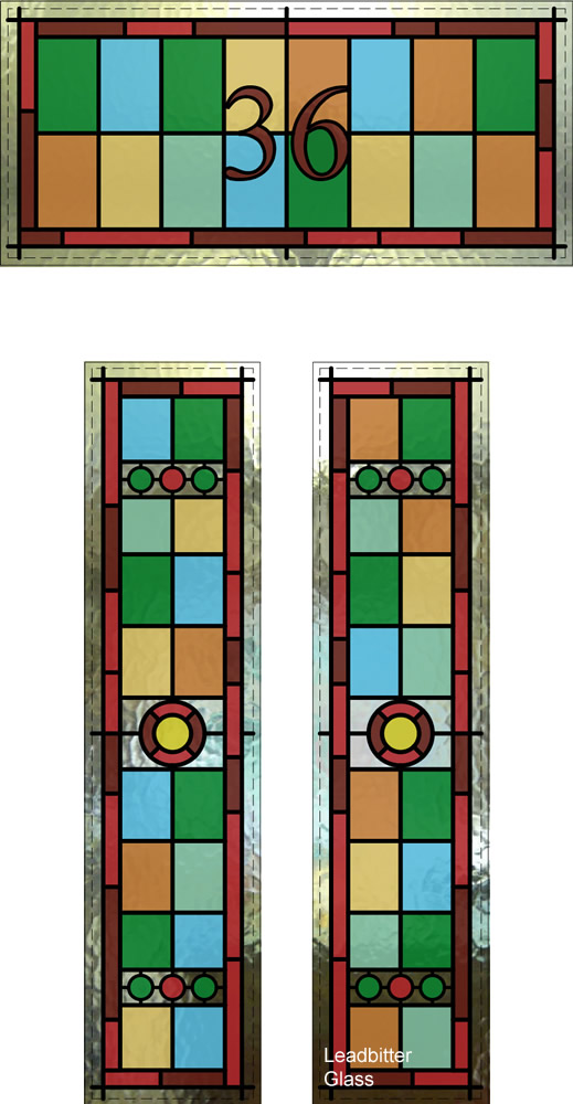 Stained Glass Victorian Door Number London