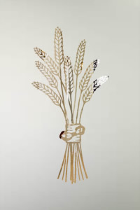 Etched Glass Wheat Sheaf