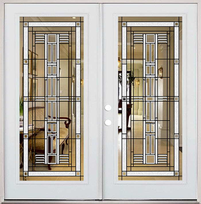 American Bevelled Glass Door Entryway