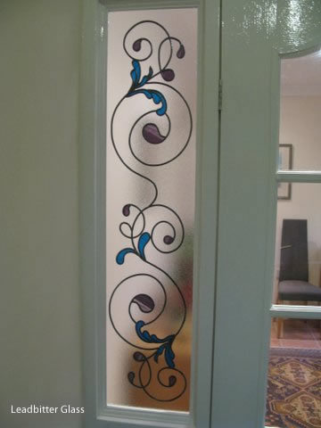 Leaded Glass Floral Side Panels Cornwall