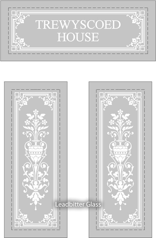 Tulett Traditional Etched Glass Door Amp House Name