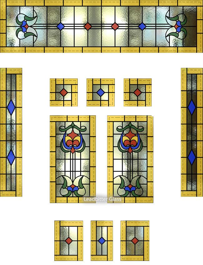 Bakewell Leaded Glass Door Side Panels Amp Toplights