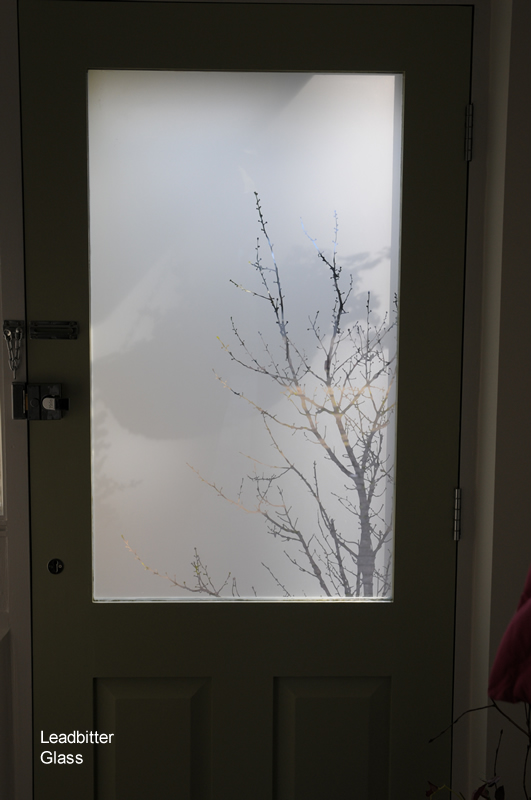Etched Glass Tree Shadows Door Derby