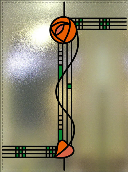 Kershaw Rennie Mackintosh Rose Window Wirral