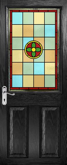Half Glazed Leaded Glass Panels Viewed In Black Doors Page 2