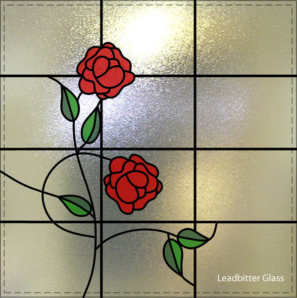 Paraoaru Overlay Stained Glass Climbing Roses Feltham
