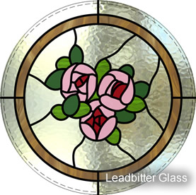 Stained Glass Roses Port Hole