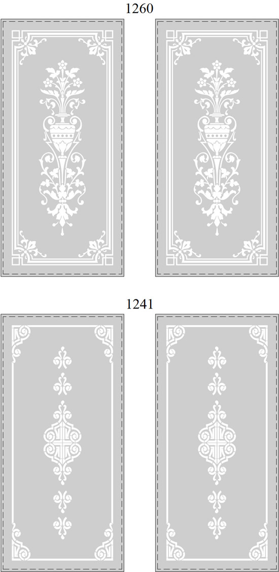 Novator Traditional Etched Glass Doors Iceland