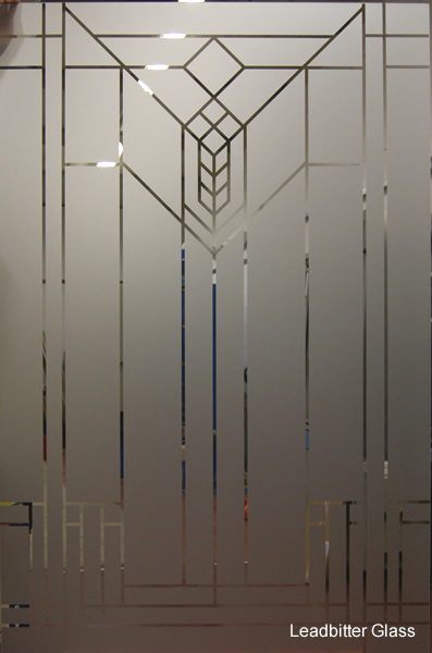 Etched Glass Front Door