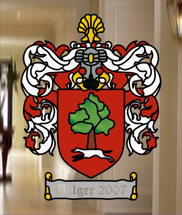 Bolger Leaded Glass Coat Of Arms Sheffield