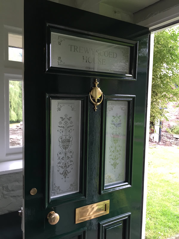 Victorian Etched Glass Door Panels Abergavenny
