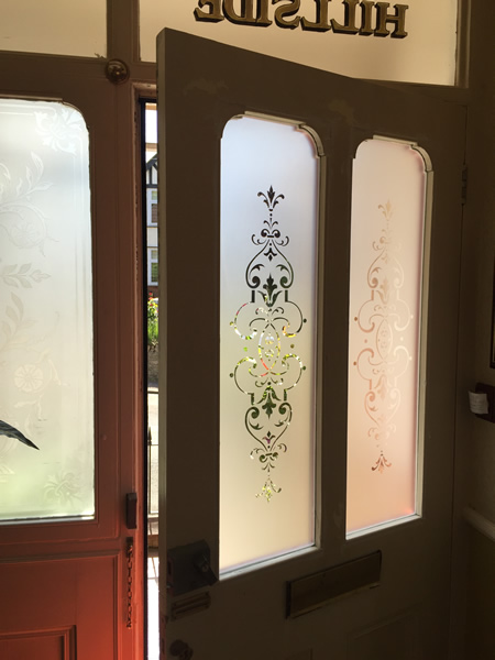 Shaped Victorian Etched Glass Door Panels Rickmansworth