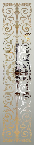 Victorian Etched Glass Panel