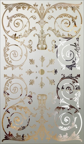 Victorian Etched Glass