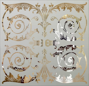 Victorian Etched Glass Pattern