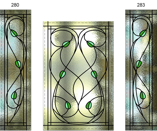 Stained Glass Leaves Door