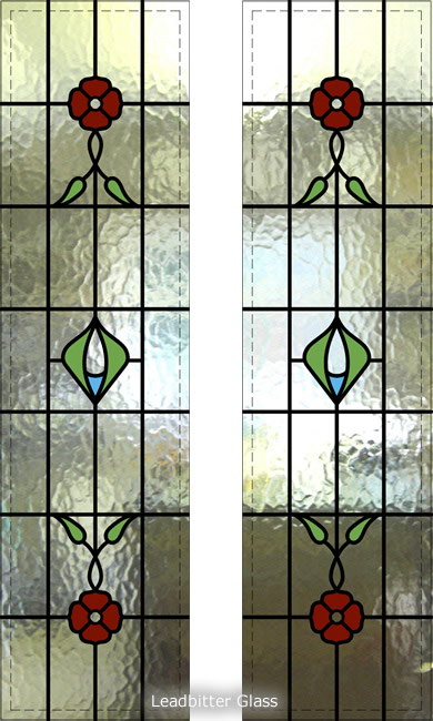 Lewin Leaded Glass Rose Door Glasgow