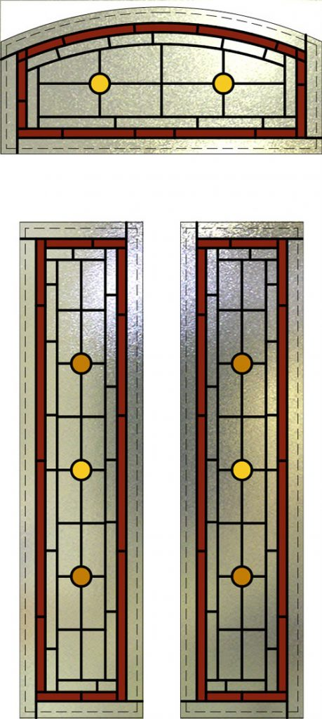 Stained Glass Arch Window