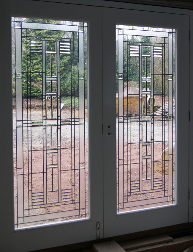 Bevelled Glass Doors