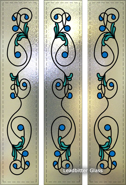 Floral Stained Glass Doors