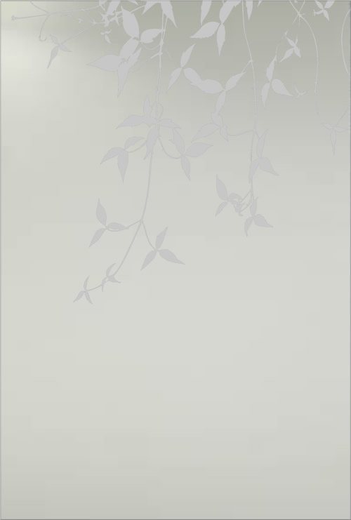 Satin glass leaves design