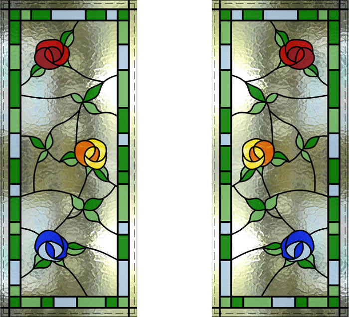 Stained Glass Roses Window