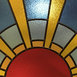 Stippolyte Stained Glass Sun