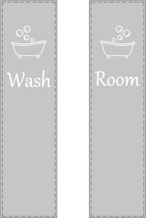 Etched Glass Wash Room Door