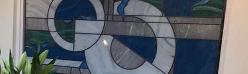Abstract Feature Window Leaded Glass