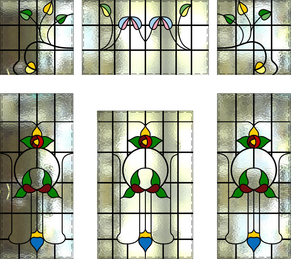 Stained Glass Vestibule Doorway