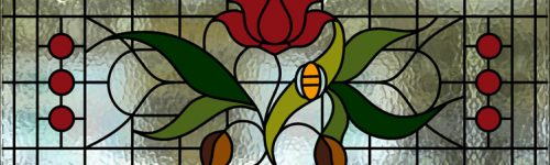 traditional 1930s stained glass window